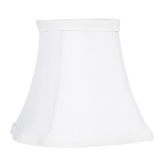 White Fancy Square Lamp Shade with Clip-On Assembly