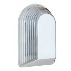 Ribbed Glass Outdoor Wall Light White Costaluz by Besa Lighting