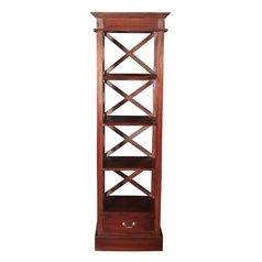 Sterling Lighting Mahogany Shelving