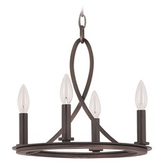 Capital Lighting Chastain Tobacco Mini-Chandelier
