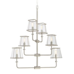 Savoy House Lighting Damascus Satin Nickel Chandelier