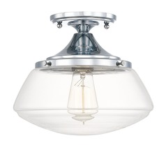 Capital Lighting Schoolhouse Chrome Semi-Flushmount Light