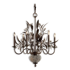 Crystal Chandelier in Golden Bronze Finish