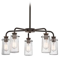 Kichler Chandelier with Clear Glass in Olde Bronze Finish