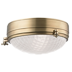 Nautical Flushmount Light Brass Belmont by Hudson Valley