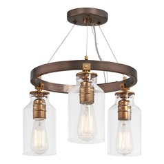 Minka Lavery Morrow Harvard Court Bronze W/ Gold Highlights Semi-Flushmount Light