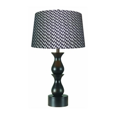 Table Lamp with Brown Shade in Oil Rubbed Bronze Finish