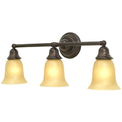 Craftsman Style 3-Light Bathroom Light Bronze