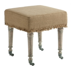 Aidan Gray Home Bleached Wood / Birch Ottoman