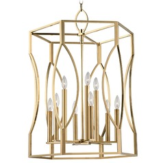 Roswell 9 Light Pendant Light - Aged Brass