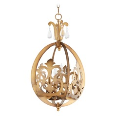 Quorum Lighting Charlton Aged Brass Pendant Light