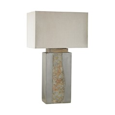 Dimond Grey and Natural Slate Outdoor Table Lamp