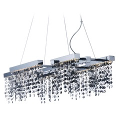 Midnight Shower Polished Chrome LED Pendant Light
