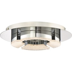 Quoizel Lighting Platinum Lunette Polished Chrome LED Flushmount Light