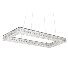Crystal Chrome LED Pendant with Clear Shade 4000K 4100LM