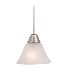 Maxim Lighting Basix Satin Nickel Mini-Pendant Light with Bell Shade