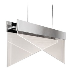 Modern LED Island Chandelier Polished Chrome Platinum Collection Impusle by Quoizel Lighting