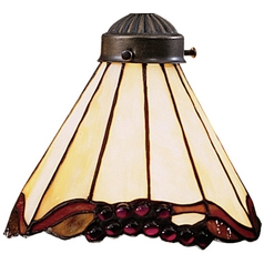 Elk Lighting Conical Tiffany Glass Shade - 2-1/4-Inch Fitter Opening 999-3