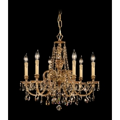 Crystorama Lighting Crystal Chandelier in Olde Brass Finish 2806-OB-GTS