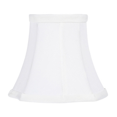 White Cut Corner Lamp Shade with Clip-On Assembly
