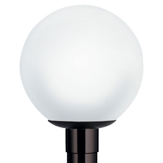 Wave Lighting Marlex Globe & Acorns Black Post Light