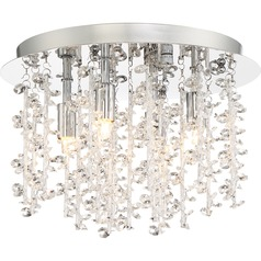 Quoizel Lighting Platinum Collection Luminous Polished Chrome Flushmount Light