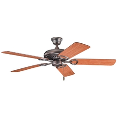 Kichler Ceiling Fan Without Light in Oil Brushed Bronze Finish