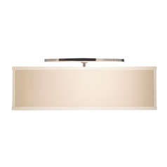 Modern Semi-Flushmount Lights in Satin Nickel Finish