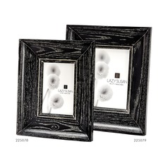 Cerused Black Convex Frame - 4 x 6