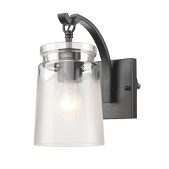 Travers BLK 1 Light Wall Sconce in Black