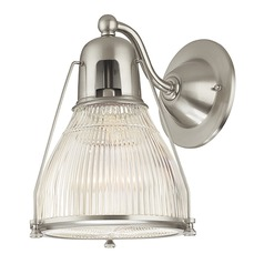 Prismatic Glass Sconce Satin Nickel Hudson Valley Lighting