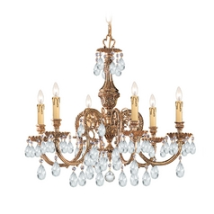 Crystorama Lighting Crystal Chandelier in Olde Brass Finish 2906-OB-CL-S