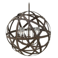 Industrial Vintage Seeded Glass Outdoor Hanging Light Iron Hinkley Lighting