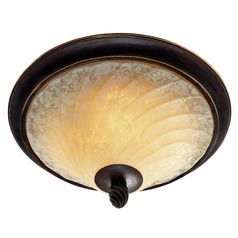 Golden Lighting Torbellino Cordoban Bronze Flushmount Light