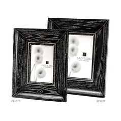 Cerused Black Convex Frame - 5 x 7