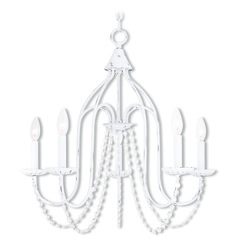 Livex Lighting Alessia Antique White Chandelier
