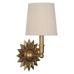 Robert Abbey Rico Espinet Churchill Aged Brass Sconce