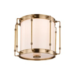Hudson Valley Lighting Hyde Park Aged Brass LED Flushmount Light