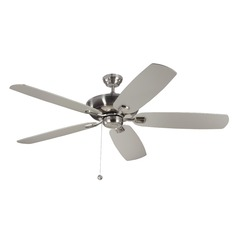 Monte Carlo Colony Super Max Brushed Steel Ceiling Fan Without Light