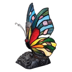 Quoizel Rainbow Butterfly Tiffany Lamp