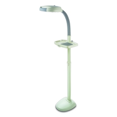 Verilux Lighting Adjustable Gooseneck Task Floor Lamp with Utility Tray VF02AA1