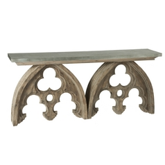 Aidan Gray Home Natural Aged Wood Accent Table