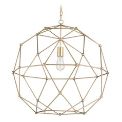 Currey and Company Lighting Percy Antique Brass Pendant Light