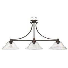 Hinkley Lighting Bolla Olde Bronze Island Light with Bowl / Dome Shade