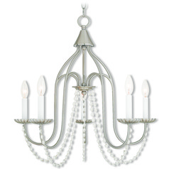 Livex Lighting Alessia Brushed Nickel Chandelier