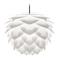 Vita Copenhagen Black Plug-In Swag Pendant Light with Abstract Shade