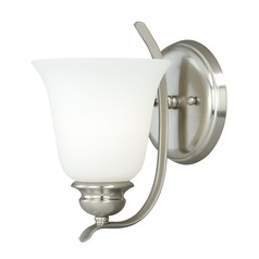 Darby Satin Nickel Sconce by Vaxcel Lighting