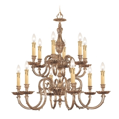 Crystorama Lighting Chandelier in Olde Brass Finish 2612-OB