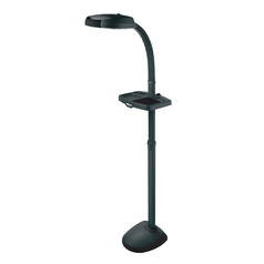 Adjustable Gooseneck Task / Hobby Floor Lamp with Utility Tray