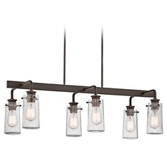 Kichler Island Light with Clear Glass in Olde Bronze Finish